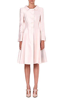 ARMANI COLLEZIONI Flared cotton and silk-blend coat