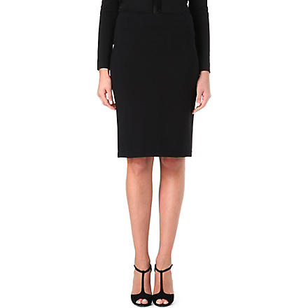 ARMANI COLLEZIONI Stretch-cotton pencil skirt (Black