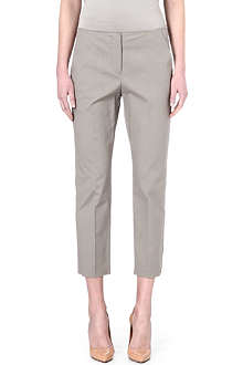 ARMANI COLLEZIONI Tapered and cropped stretch cotton trousers