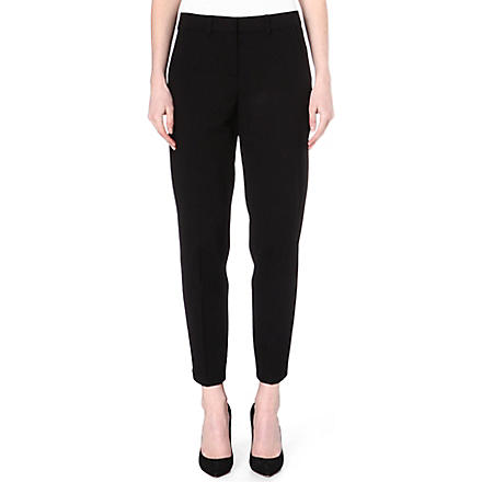 ARMANI COLLEZIONI Cropped stretch-jersey trousers (Black