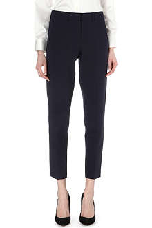 ARMANI COLLEZIONI Cropped stretch-jersey trousers