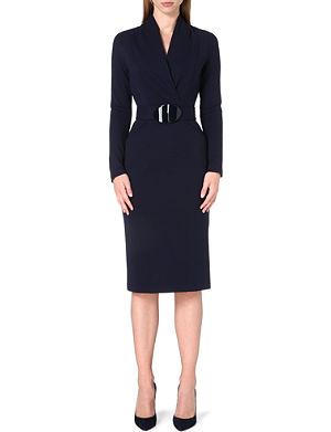 ARMANI COLLEZIONI Fitted stretch-crepe dress