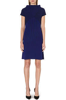 ARMANI COLLEZIONI Geometric striped wool dress