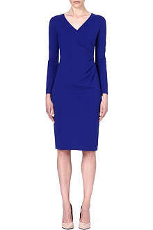ARMANI COLLEZIONI Pleated-side jersey dress