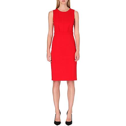 ARMANI COLLEZIONI Belted shift dress (Red