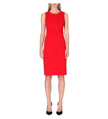 ARMANI COLLEZIONI Belted shift dress (Red