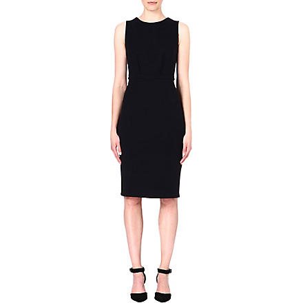 ARMANI COLLEZIONI A-line stretch-crepe dress (Black
