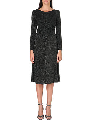 ARMANI COLLEZIONI Twisted lurex midi dress