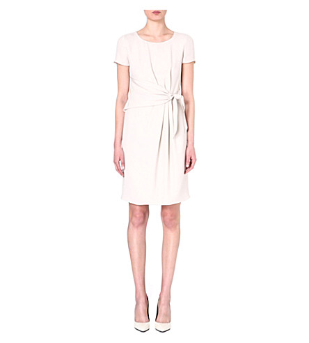 ARMANI COLLEZIONI Pleated waist bow dress (Ivory