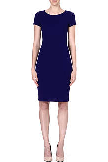 ARMANI COLLEZIONI Cap-sleeved wool-blend dress