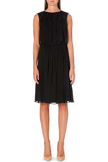 ARMANI COLLEZIONI Pleated silk mid-dress