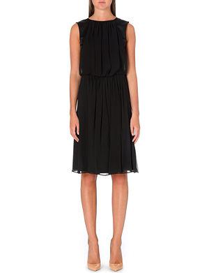 ARMANI COLLEZIONI Pleated silk mid-dress
