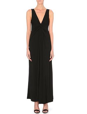 ARMANI COLLEZIONI Twist-detail stretch-crepe dress