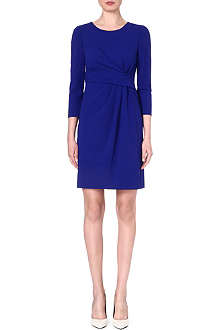 ARMANI COLLEZIONI Gathered-waist stretch-wool dress
