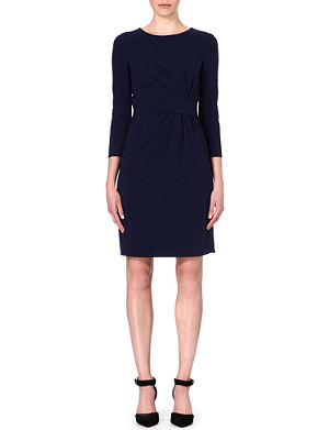 ARMANI COLLEZIONI Gathered wool-blend dress