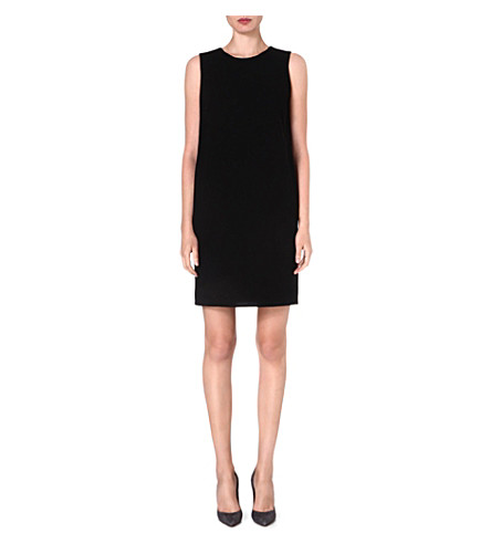ARMANI COLLEZIONI Pocket-detail wool shift dress (Black