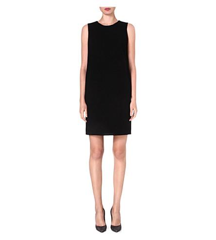 ARMANI COLLEZIONI Pocket-detail wool shift dress (Black