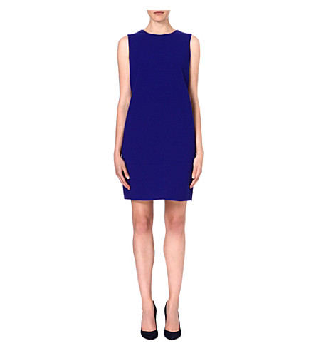 ARMANI COLLEZIONI Wool shift dress (Blue