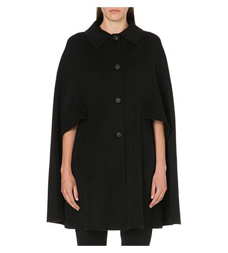 ARMANI COLLEZIONI Two-pocket wool-blend cape (Black