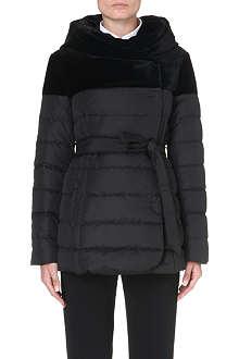 ARMANI COLLEZIONI Velvet contrast quilted coat