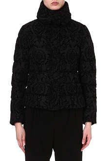 ARMANI COLLEZIONI Velvet floral-print jacket