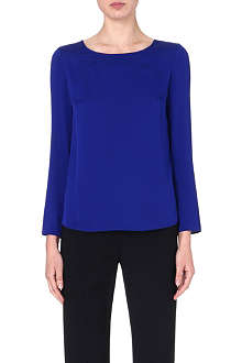 ARMANI COLLEZIONI Long-sleeved stretch-silk top