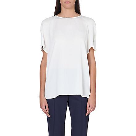 ARMANI COLLEZIONI Stretch-silk top (Ivory