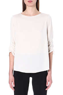 ARMANI COLLEZIONI Ruched stretch-silk top