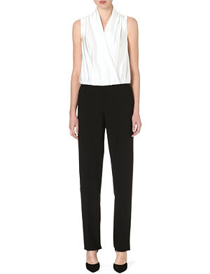 ARMANI COLLEZIONI Tux-style silk and wool jumpsuit