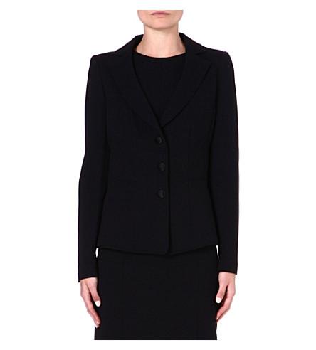 ARMANI COLLEZIONI Stretch-jersey blazer (Black