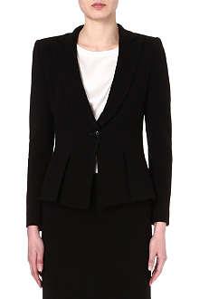 ARMANI COLLEZIONI Fitted black crepe jacket