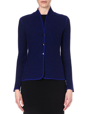 ARMANI COLLEZIONI Single-breasted ribbed jacket