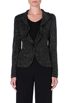 ARMANI COLLEZIONI Sparkle glittered stretch-jersey jacket