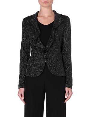 ARMANI COLLEZIONI Sparkle glittered stretch-jersey jacket