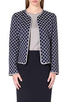 ARMANI COLLEZIONI Hexagon-print crepe blazer