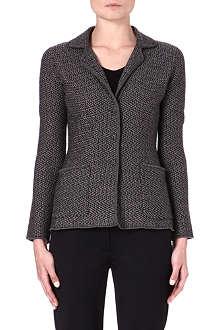 ARMANI COLLEZIONI Zig-zag wool jacket