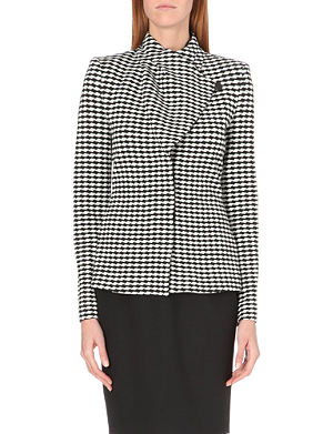 ARMANI COLLEZIONI Jacquard-knit jacket