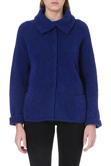 ARMANI COLLEZIONI Peter Pan collar wool-blend cardigan