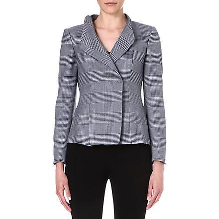 ARMANI COLLEZIONI Prince of Wales checked blazer (Black/white