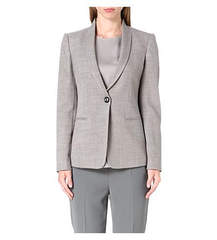 ARMANI COLLEZIONI Tweed blazer (Beige