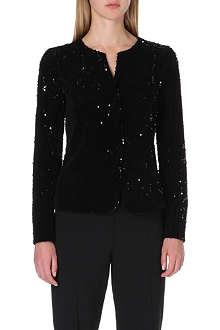 ARMANI COLLEZIONI Velvet sequinned jacket