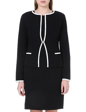 ARMANI COLLEZIONI Contrast piping wool jacket