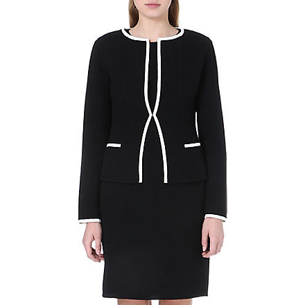 ARMANI COLLEZIONI Contrast piping wool jacket (Black