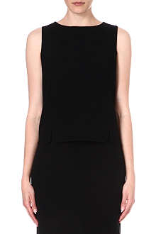 ARMANI COLLEZIONI Sleeveless wool top