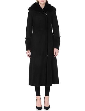 ARMANI COLLEZIONI Shearling hooded coat