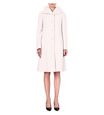 ARMANI COLLEZIONI Single-breasted wool-blend coat (Cream