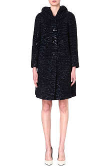 ARMANI COLLEZIONI Speckled wool-blend coat