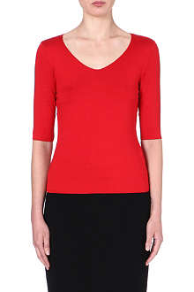 ARMANI COLLEZIONI Mid-sleeved jersey top