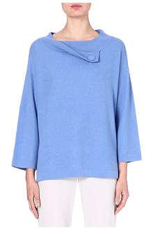 ARMANI COLLEZIONI Button-neckline cashmere jumper