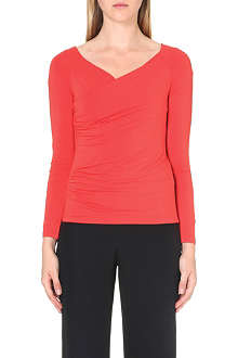 ARMANI COLLEZIONI Stretch-jersey ruched top